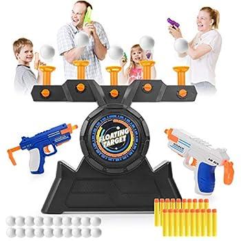 VISATOR Floating Ball Shooting Games for Kids Nerf Guns,USB Powered Shooting Targets Practice for Boys with 2 Foam Dart Guns 20 Foam Balls & 20 Darts,Boys Toys for 5 6 7 8 9 10 11 12 Year Old Boys