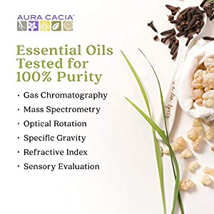 Aura Cacia Discover 100% Pure Lavender Essential Oil | GC/MS Tested for Purity | 7.4 ml (0.25 fl. oz.) in Box with Uses Insert | Lavandula angustifolia