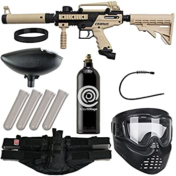 Action Village Tippmann Cronus Epic Paintball Gun Package Kit - Basic & Tactica  Tan Tactical
