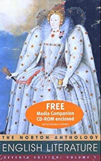 The Norton Anthology of English Literature, 7th Ed, Vol. 1 (Packaged with Media Companion)
