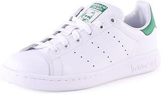 adidas Originals Adidas Stan Smith J M20605, Scarpe da Basket, Footwear White/Footwear White/Green, 37 1/3 EU