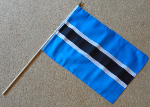 Groß, Botswana Flagge Fahne Polyester-Sleeve mit 0.61 meters Gehstock aus Holz