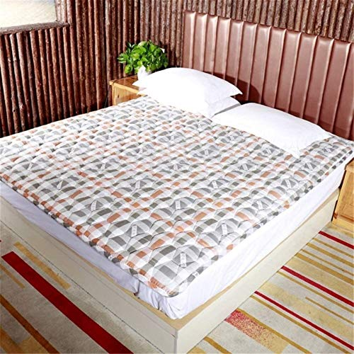 Quilting Square Mattress Topper Non-slip Foldable Tatami floor ma ThickenBreathable Futon Mattress student dorm room Portable Sleeping Pad Can't afford the ballA-120x190cm(47x75inch)
