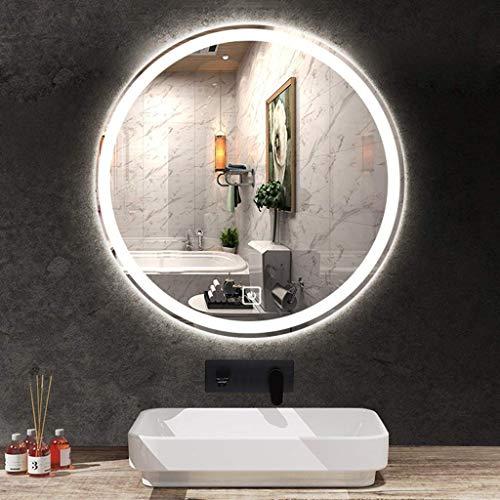 XLTFZY Espejo, Espejo de Maquillaje, Espejo de Baño, Espejo de Escritorio, Led con Interruptor de Sensor de Luces Iluminado para Afeitarse, Anti-Niebla a Prueba de Polvo/a/Los 50Cm (19.7Inch)