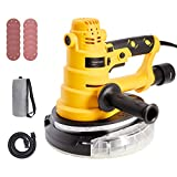 Orion Motor Tech 750W Handheld Drywall Sander with Vacuum Attachment & 2 Handles | Orbital Sander with LED Light & Dust Collector | Drywall Power Tool for Woodworking Home Improvement More, 6 Speeds