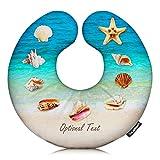 Almohada de Viaje Personalizada en Forma de U con impresión temática de diseñador Amarillo Playa