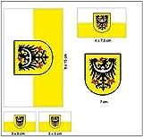 Aufkleber Set Niederschlesien Fahne Flagge
