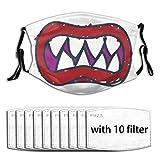 ffcheer mask-Bowser Jr. Inspired Unisex Outdoor reuseable Scarf