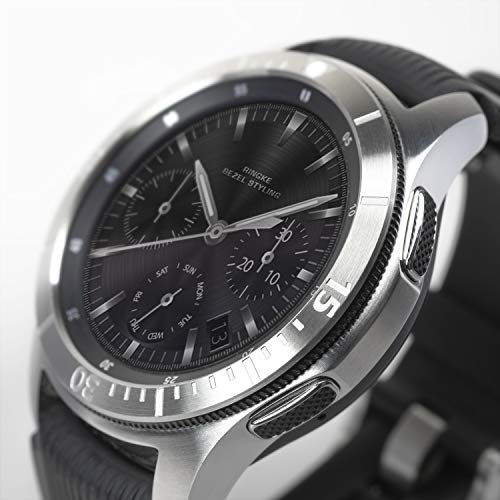 Ringke Bezel Styling para Galaxy Watch 46mm / Galaxy Gear S3 Frontier & Classic, Bisel Anillo Cubrir Anti-rasguños Proteccion - [Acero Inoxidable] GW-46-02