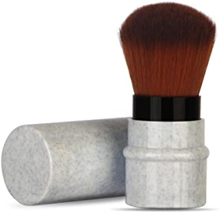 Make up Brushes,Lavany Blush Brush-Marble Lines Foundation Makeup Brush-Metal Lid Cosmetic Brushes (A)