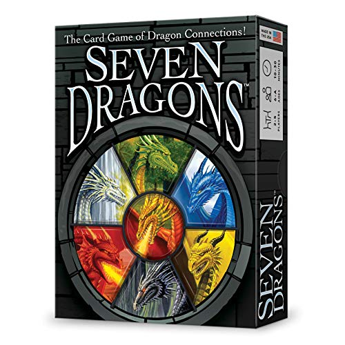 Looney Labs Seven Dragons Card Game, Multicolor