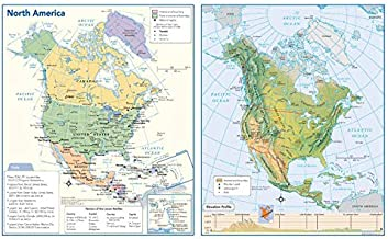 North America Political & Physical Continent Map - 17