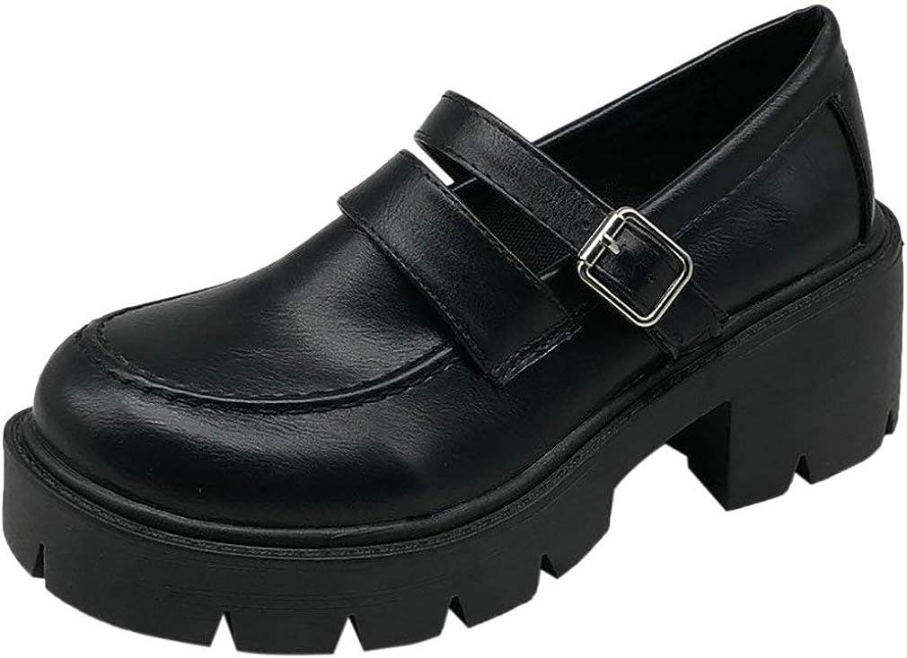 Parisuit Women's Chunky Platform supreme Lolita Strap Goth online shopping Pumps M Ankle