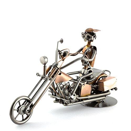 Steelman24 I Schraubenmännchen Harley Kupfer I Made in Germany I Handarbeit I Geschenkidee I Stahlfigur I Metallfigur I Metallmännchen