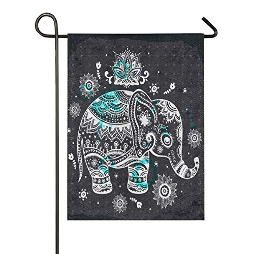 LL-Shop Elephant Sackleinen Garten Flagge doppelseitig, Haus Hof Flaggen, Holiday Seasonal Outdoor Dekorative Flagge