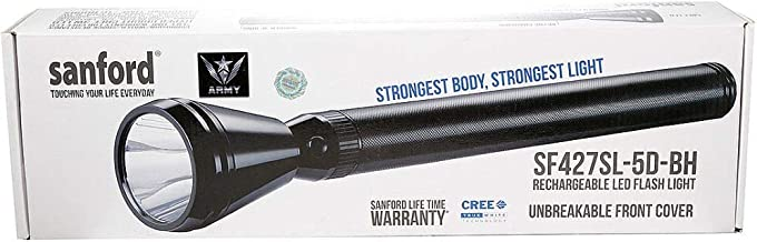 Sanford Army Series Rechargeable LED Flash Light, SF427SL 5D BH
