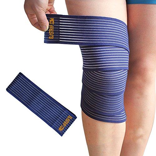 Kniebandage Rugby, Handball, Volleyball, Basketball, Tennis, Laufen, Fahrrad, Leichtathletik, Tanz, Kampfsport, Fitness - blau