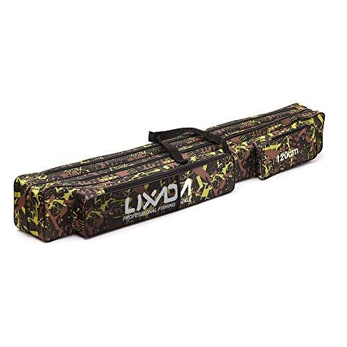 Lixada Angeln Tasche Doppelschicht Grosse Kapazität Angel Angehen Tasche 120/150cm