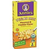 Annie's Organic Vegan Mac Cheddar Flavor Pasta and Sauce, 6 oz (Pack of 12)
