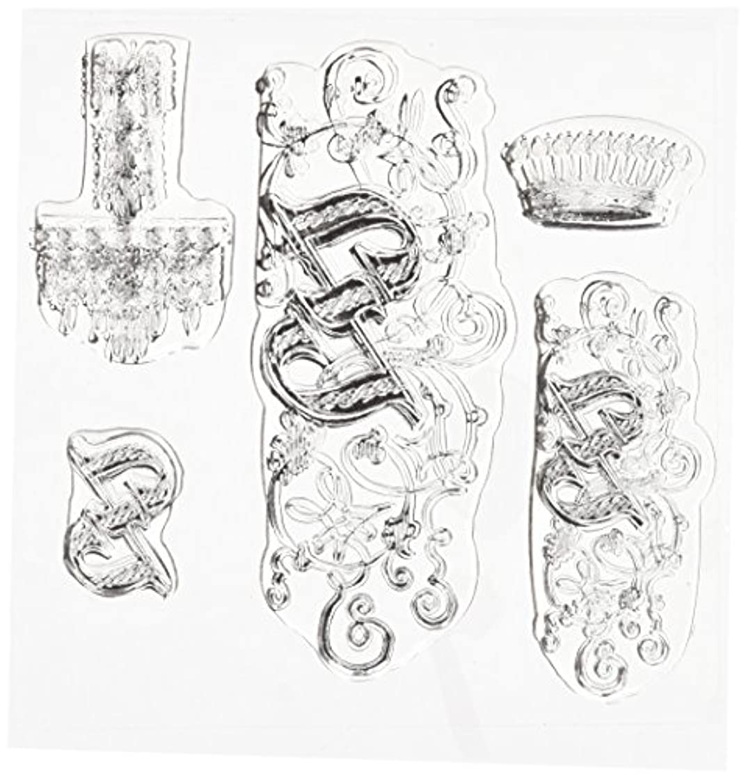 Something Tattered Z Initial Monogram Clear Stamps, 4 by 4-Inch