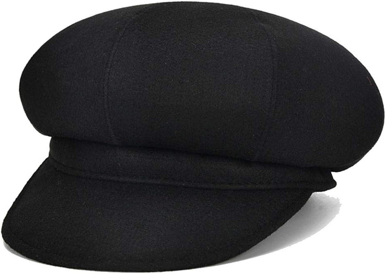 Hat Autumn And Winter Retro Ladies Hat Casual Beret Fashion Hat Outdoor Warm Hat Painter Hat (color   Black)