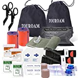 TOUROAM IFAK Refil Trauma Pack - Emergency Survival First Aid Kit, Outdoor Gear EDC Pouch Military Bleeding Bag with Tourniquet Israeli Bandage Sheer for Camping Boat Hunting