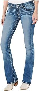 Pantalones Vaqueros Ajustados El/ásticos De Tiro Bajo Desgastados Falsos