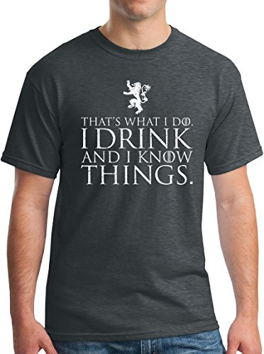 Winterfell I Drink and I Know Things Shirt Tyrion Half Man GoT Thrones Tee DH L Dark Heather