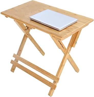 ZZHF La Table de Nuit Table D'appoint, Bureau D'étude, Table À Manger en Bambou, Bureau D'ordinateur Pliable, Tab