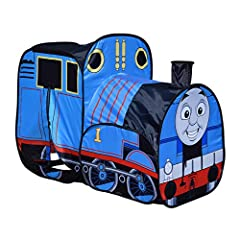 Creativity and imaginary play: Give kids their own place to hang out. Use the tent as a place to play with toys, read or imagine you are racing down the tracks with Thomas. The realistic design and bright colors promote  creativity and imaginary play...