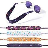 4 Pieces Kids Eyeglass Strap Neoprene Glasses Holder Sunglasses Lanyard Retainer (Flamingo, Dog, Planet, Star)