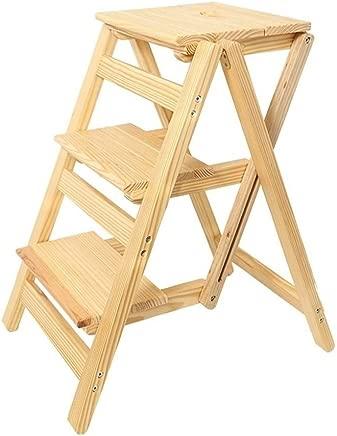 Wtbew-u Folding Steps  Multi-purpose Ladders Wooden Ladder Stool Stairway Chair With Steps