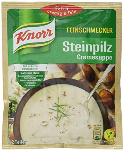 Knorr Feinschmecker Steinpilz Cremesuppe, 2 Teller, 14er Pack