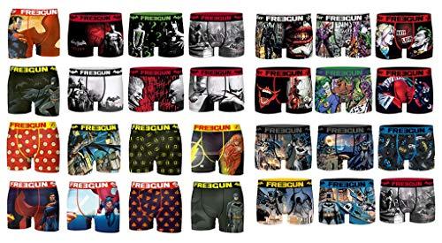 Freegun Boxershorts aus Mikrofaser, verschiedene Modelle je nach Verfügbarkeit, mehrfarbig, 4er Pack Boxershorts Überraschung DC Comics, 8-10 Jahre