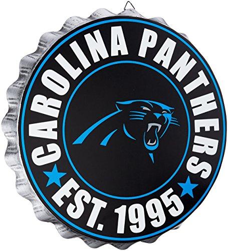 Carolina Panthers NFL Bottle Cap Wall Sign