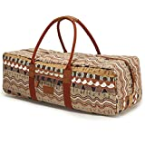 Techecho Yoga Mat Duffle Bag Patterned Canvas with Pocket and Zipper Patterned...