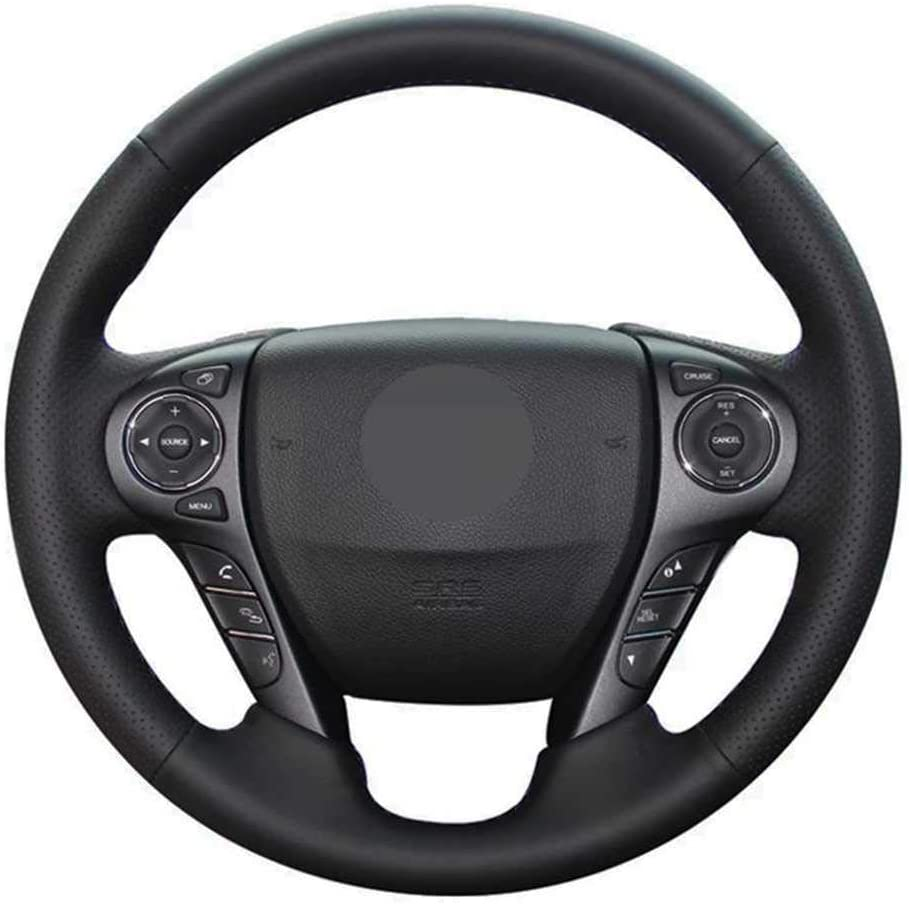 NIUASH Black Leather Car Steering Limited time cheap sale Wheel Max 43% OFF Cover Fit Honda for Acco