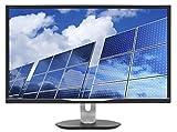 Philips 328B6QJEB 32' Monitor, Quad HD 2K, IPS 128% sRGB, Speakers, USB hub, MultiView, Height Adjustable, VESA, 4Yr Advance Replacement Warranty, Black