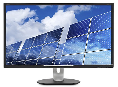 "Philips 328B6QJEB 32"" Monitor, Quad HD 2K, IPS 128% sRGB, Speakers, USB hub, MultiView, Height Adjustable, VESA, 4Yr Advance Replacement Warranty, Black"