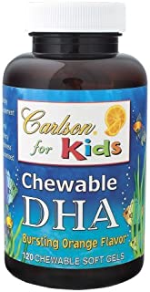 Carlson Carlson for Kids Chew. DHA Orange, 120 Softgels