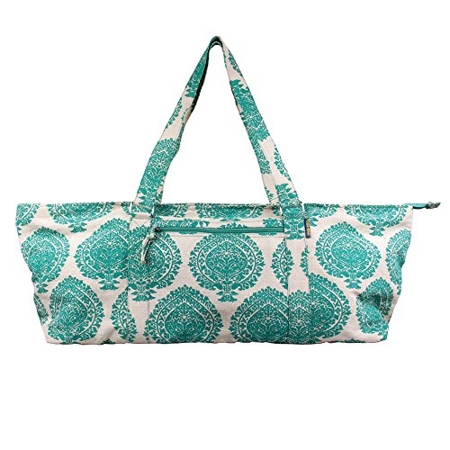 Yoga-Mad Large Yoga Mat Bag   Full Zip Yoga Bag   Green Unisex Carrier   Stores Mat and Accessories   Suitable for Pilates, Yoga, Gym, Fits Most Mat Sizes