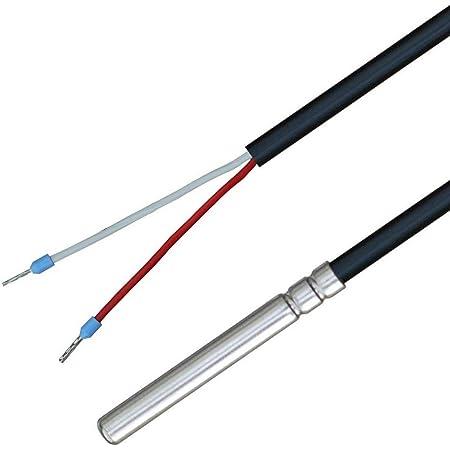 3 metri Sonda di temperatura con cavo in silicone fino a 200/°C NTC 5KOHM iOVEO 036HS04203