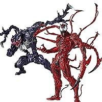 アニメスタチュー素晴らしい赤毒のカーネッジキャプテンアメリカスパイダーマンマグネトX男のアクションフィギュア人形 chuangze