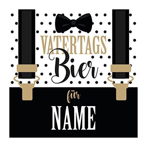 Herz & Heim® Bier-Etikett mit Namen - Vatertagsbier - selbstklebend für Bierflaschen zum Vatertag 1 Stück