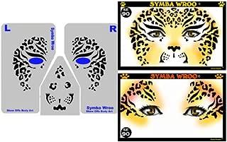 ShowOffs Body Art Face Painting Stencil - StencilEyes Symba Wroo - Cheetah