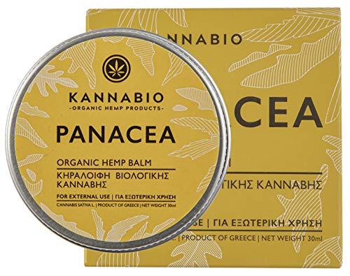 Panacea (Allheilmittel) Hanfbalsam heilend bei Verbrennungen, Schnittwunden, Insektenstichen, Sonnenbrand und Hautreizungen | Naturrein Hanfsalbe Creme von Kannabio | 30ml