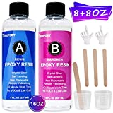 16oz / 530g Epoxy Resin and Hardener Kit for Jewelry DIY Art Craft Resin & Table Top Coating Epoxy ,Crystal...