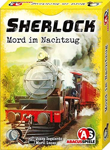 ABACUSSPIELE 48212 - Sherlock - Mord im Nachtzug, Krimi Kartenspiel