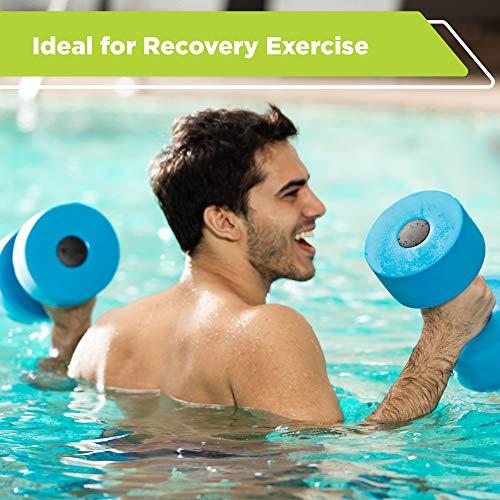 New & Improved AQUA 6 Piece Fitness Set for Water Aerobics, Pool Exercise Equipment, Aquatic Swim Belt, Resistance Gloves, Barbells, Model:AF4730 7