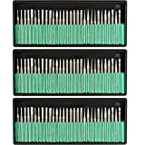 TIMESETL 90 Pcs Diamond Burr Bits Drill Kit for Engraving Carving Rotary Tool, 1/8'(3mm) Shank, for Glass, Gemstone, Metal